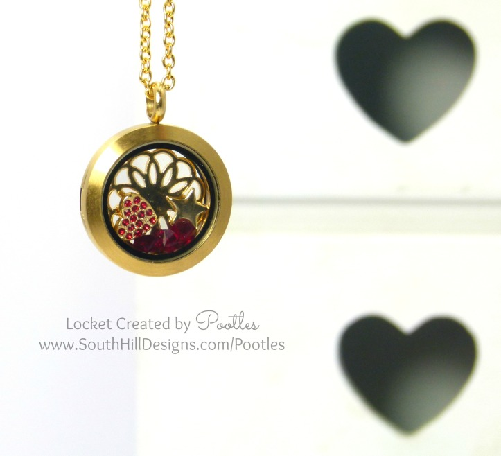 South Hill Designs - Golden Red Locket