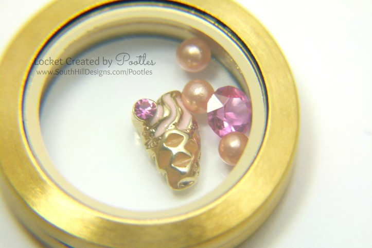 South Hill Designs Locket using Ice Cream Cone. Extreme Close Up