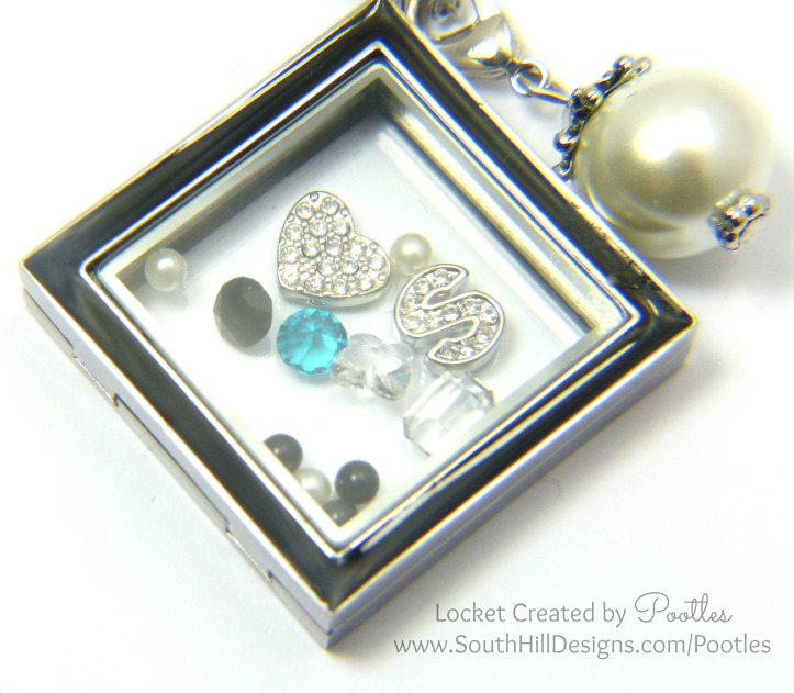 South Hill Designs UK - Diamond Locket With Full on Sparkle! Close up