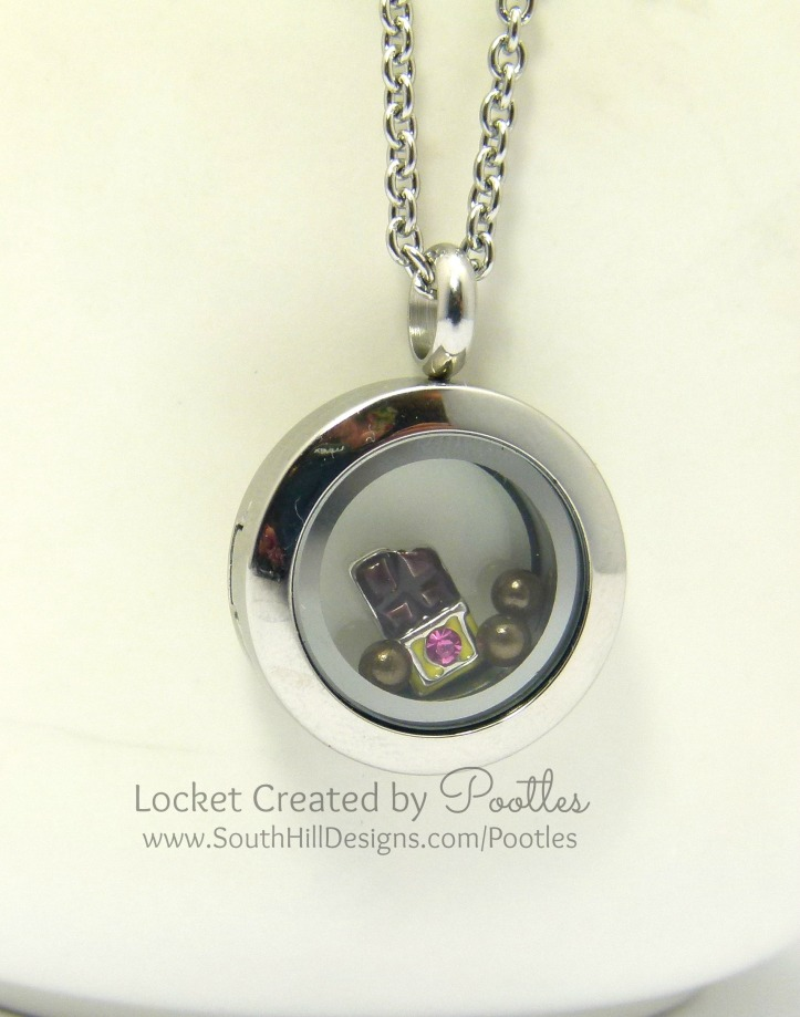 South Hills Designs Locket - Treat Friday! Close Up Hanging