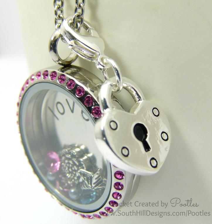 Vintage Pink with a Splash of Blue - South Hill Designs Locket Droplet Detail