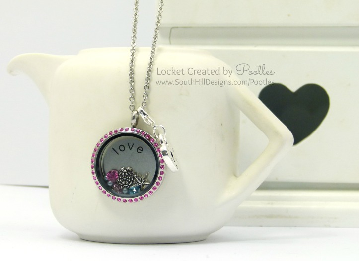 Vintage Pink with a Splash of Blue - South Hill Designs Locket