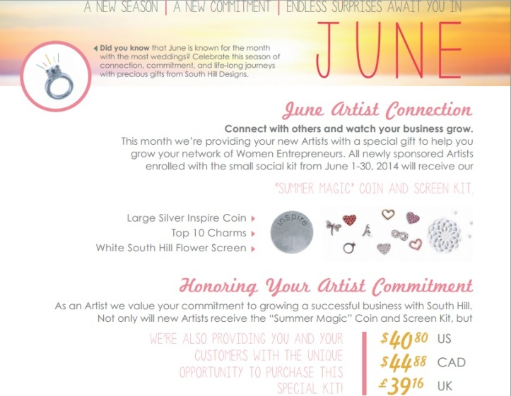 South Hill Designs June Joining Offer