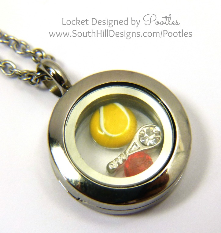 South Hill Designs - Wimbledon Locket close up