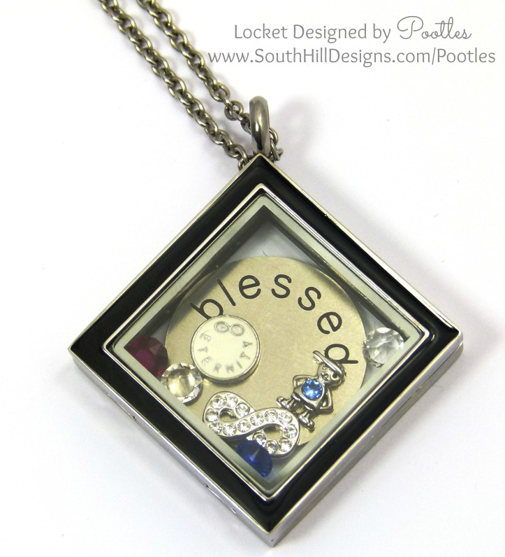 Pootles South Hill Designs - Blessed by my 4 Sons Close Up