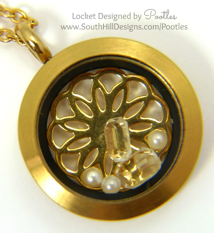 Pootles South Hill Designs - Simple Gold and Crystal Close Up