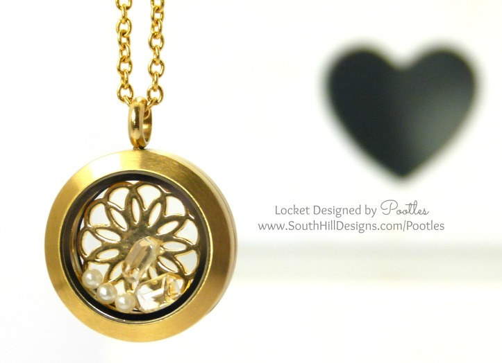 Pootles South Hill Designs - Simple Gold and Crystal