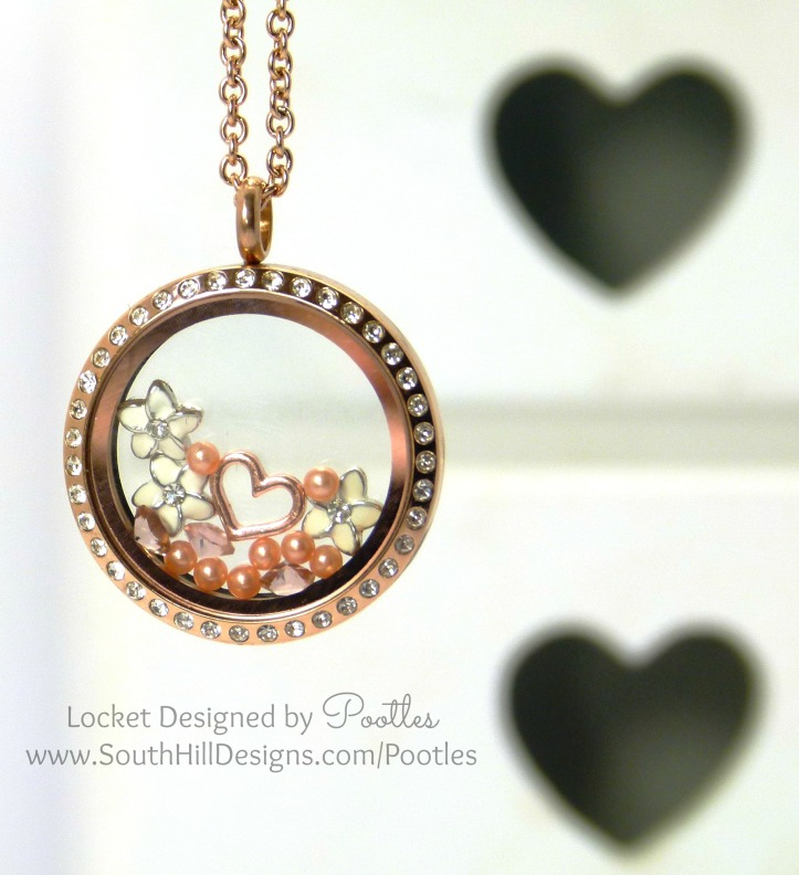 South Hill Designs Pootles - Rose Gold and White Plumeria Flowers