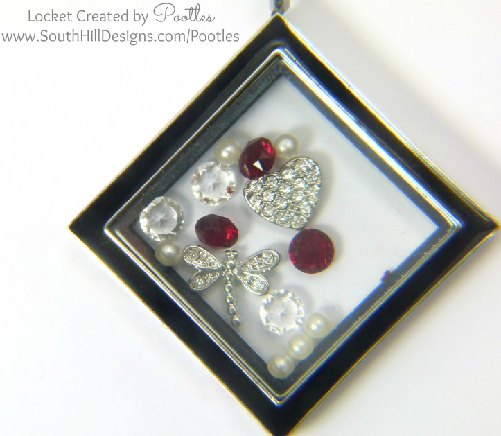South Hill Designs Pootles - Ruby and Silver Diamond Locket Close Up