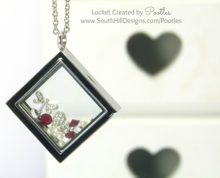 South Hill Designs Pootles - Ruby and Silver Diamond Locket
