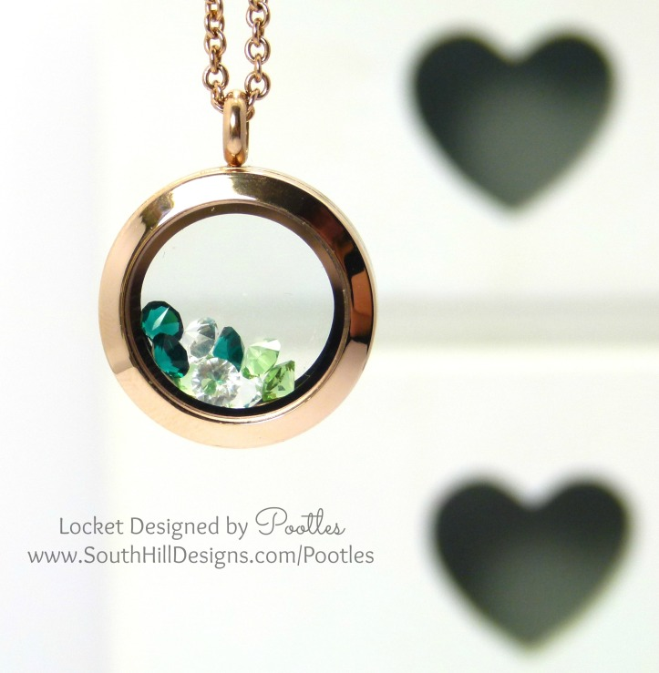 South Hill Designs - Rose Gold with a smattering of Green
