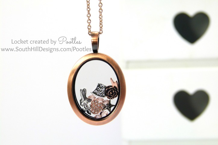 Pootles South Hill Designs - Rose Gold Vintage Oval Locket Showcase