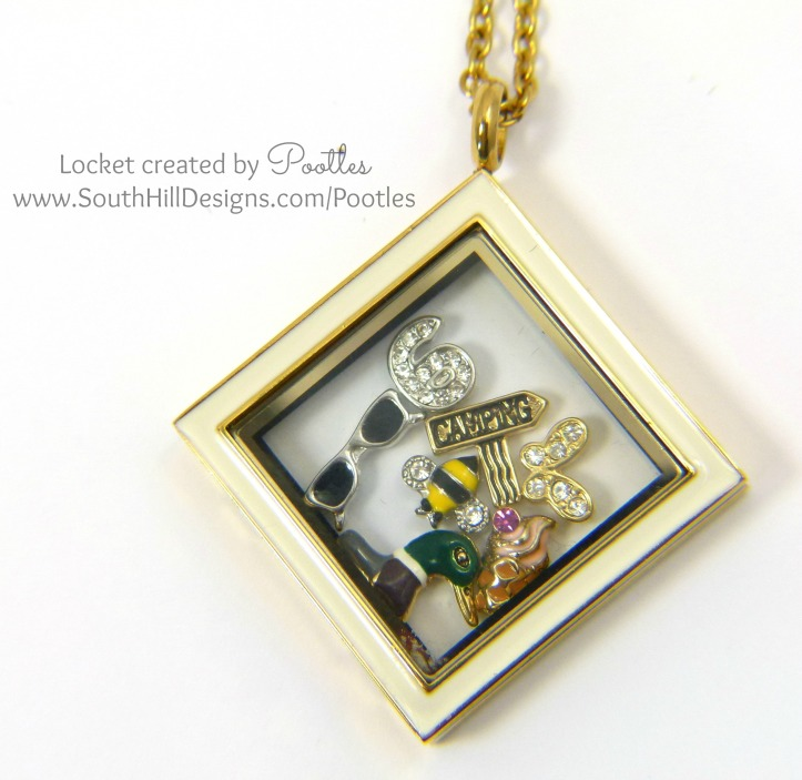 Pootles South Hill Designs - Summer Days inside a Locket! close Up