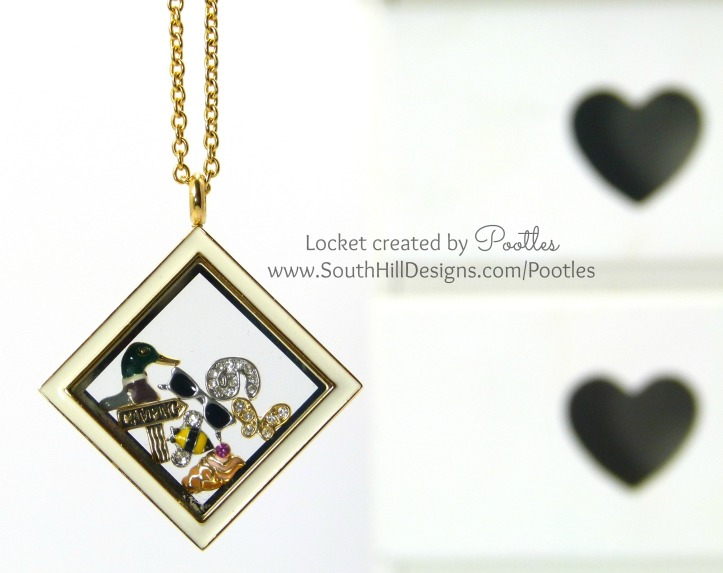 Pootles South Hill Designs - Summer Days inside a Locket!