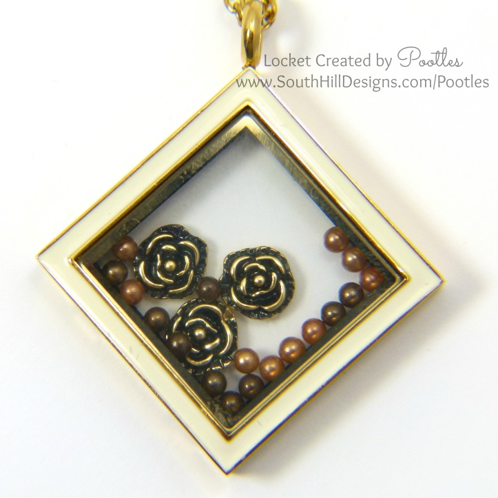 South Hill Designs with Pootles - Diamond Gold Coffee Pearls Close Up