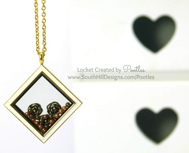 South Hill Designs with Pootles - Diamond Gold Coffee Pearls
