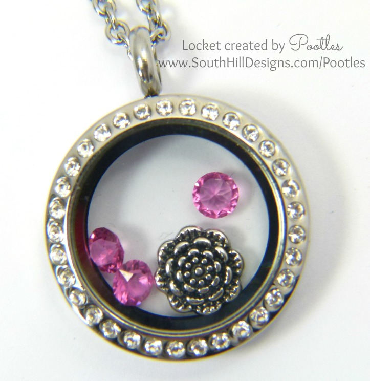 South Hill & Stampin' Up! Coloured Glimmer Paper Cheat Tutorial Pink Locket Close Up