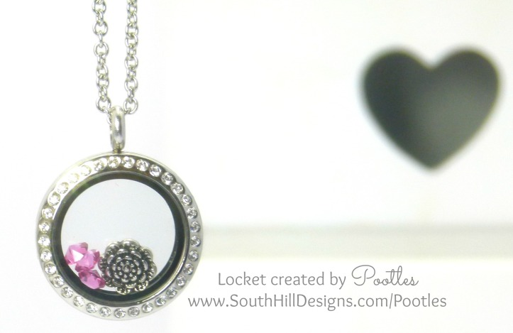 South Hill & Stampin' Up! Coloured Glimmer Paper Cheat Tutorial Pink Locket