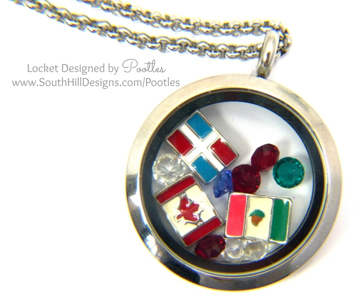 South Hill & Stampin Up on Sunday Congratulations & Hello Mexico, Dominican Republic & Quebec Locket Close Up