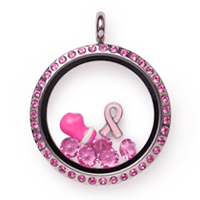 Pootles South Hill Design Breast Cancer Awareness Pre Design Locket