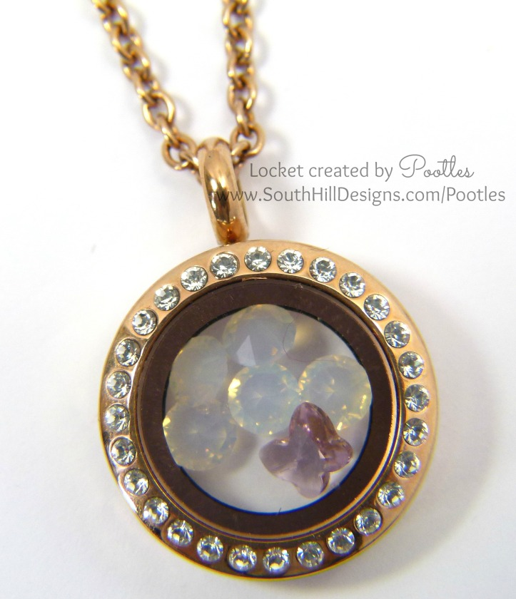 Pootles South Hill Designs - Rose Gold Locket Softened Close Up