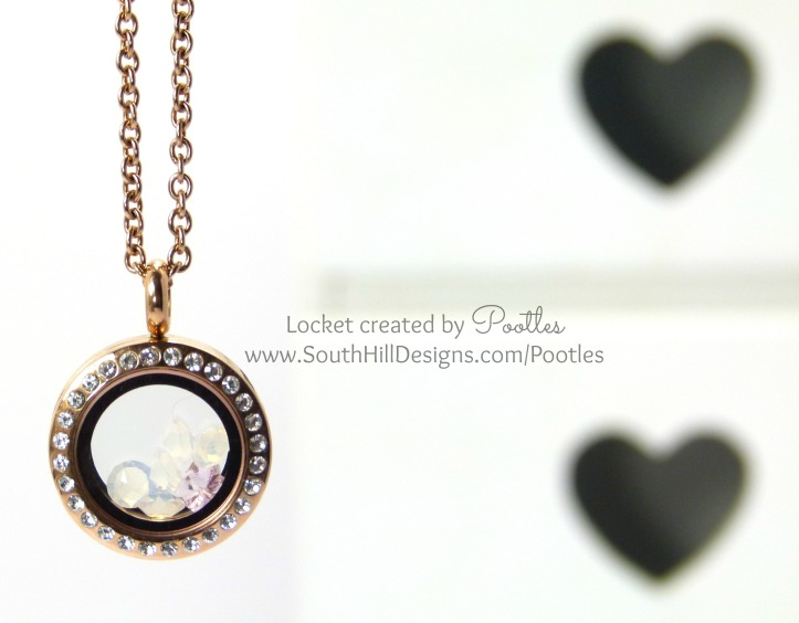 Pootles South Hill Designs - Rose Gold Locket Softened