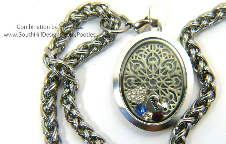 Pootles South Hill Designs - The Mum Mom Locket and chain