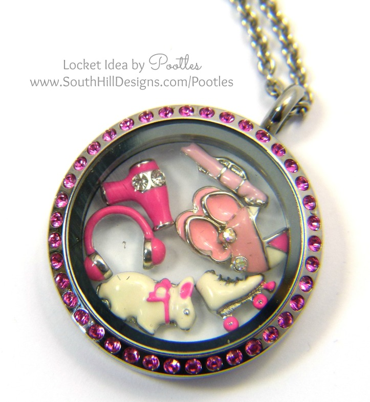Pootles South Hill Designs - Wanna Love Pink close up