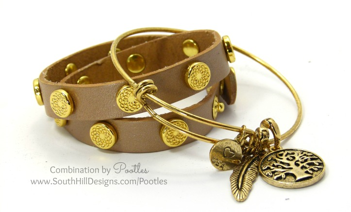 South Hill Designs - Vintage Bangle meets the Wraps Champagne Wrap