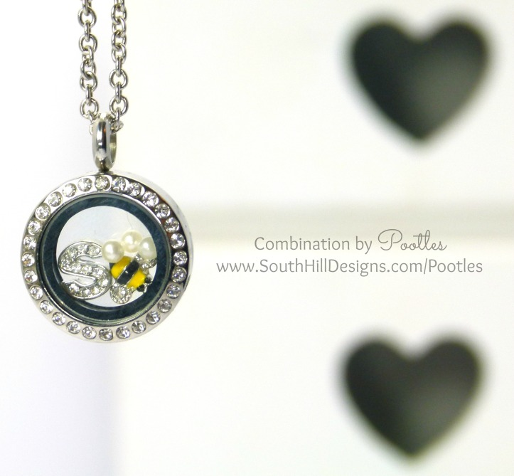 South Hill & Stampin Up! Sunday Mini Bees Tutorial Locket Hanging