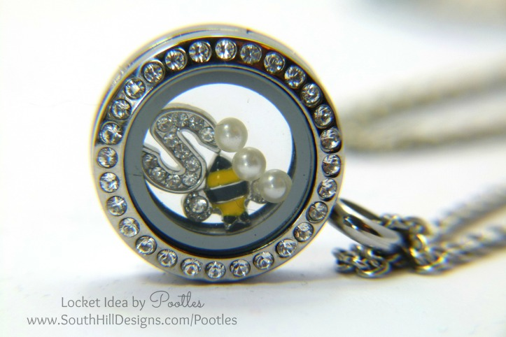 South Hill & Stampin Up! Sunday Mini Bees Tutorial Locket