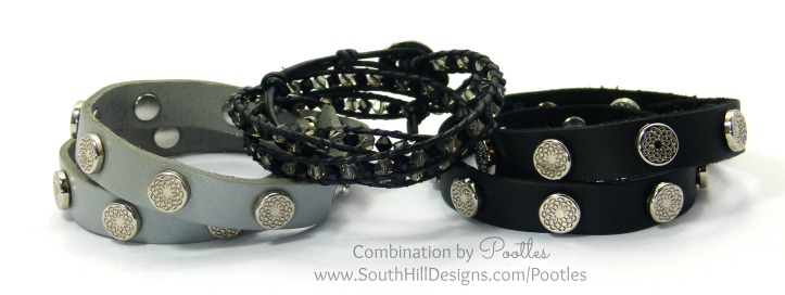 Pootles South Hill Designs - Black Crystal Wrap Showcase