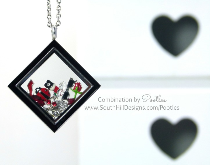 Pootles South Hill Designs - Black Diamond with Stunning Reds