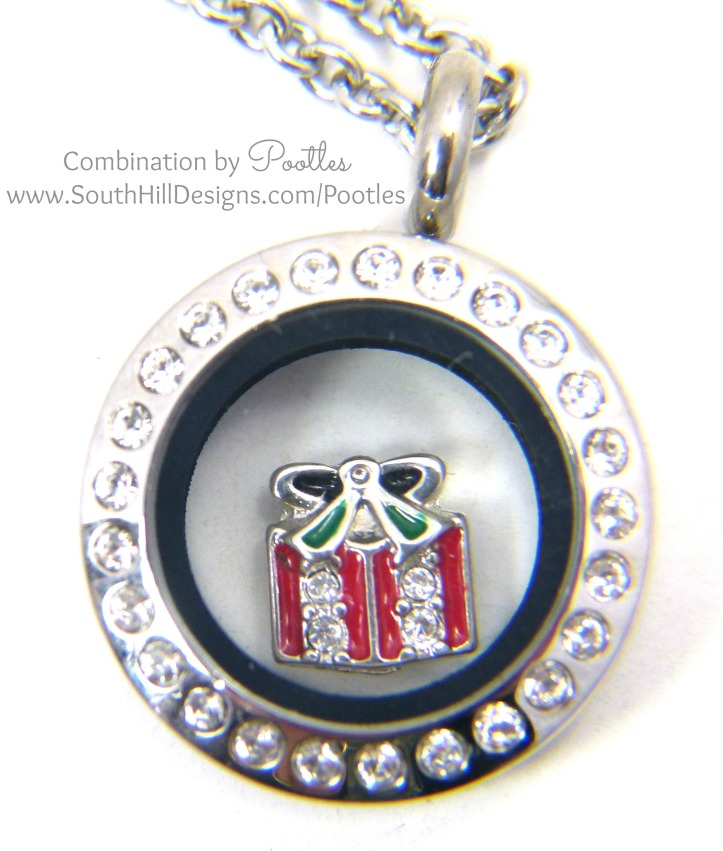 Pootles South Hill Designs - Mini Locket Showcase Christmas Parcel Close Up