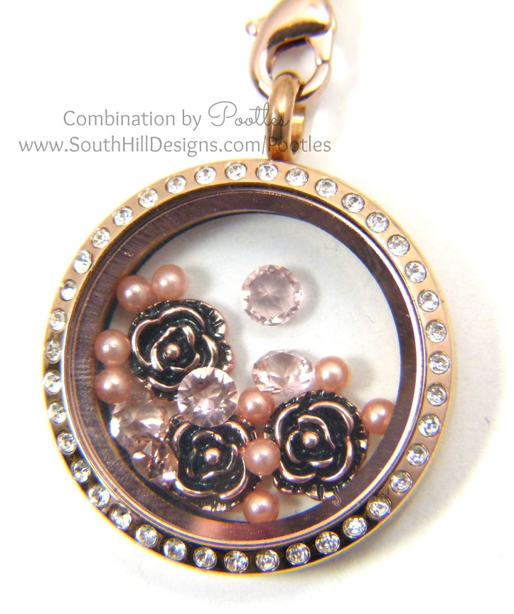 Pootles South Hill Designs - Rose Gold Triple Tassle Large Locket