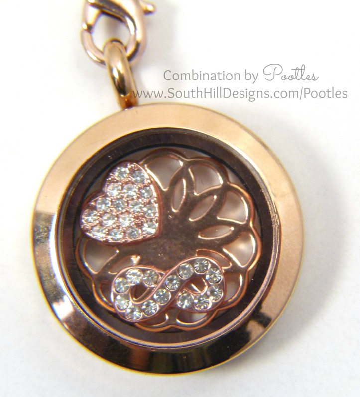 Pootles South Hill Designs - Rose Gold Triple Tassle  medium locket
