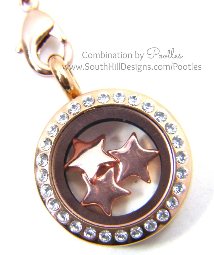 Pootles South Hill Designs - Rose Gold Triple Tassle  mini locket