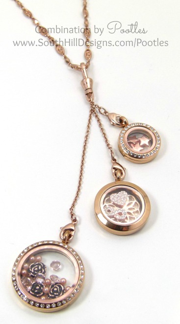 Pootles South Hill Designs - Rose Gold Triple Tassle