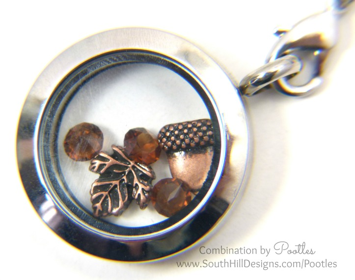 Pootles South Hill Designs - Silver & Rose Gold Triple Tassle Loveliness medium locket