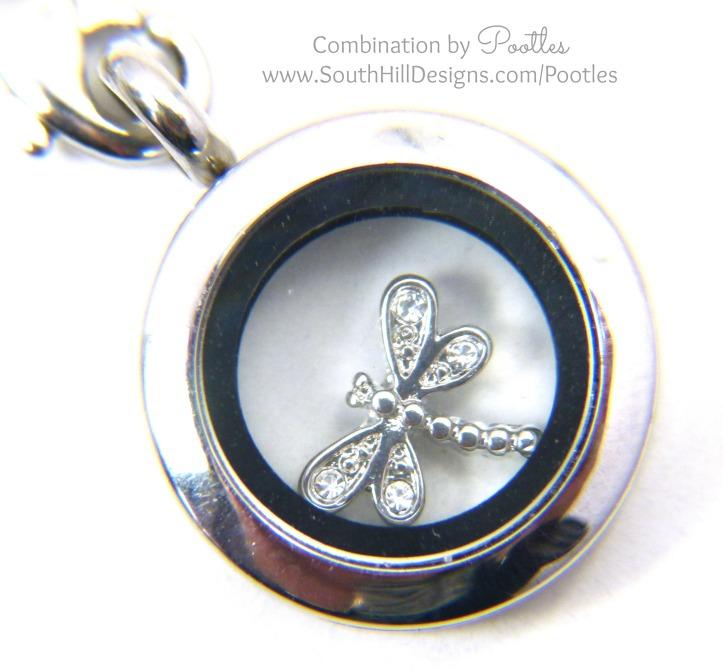Pootles South Hill Designs - Silver & Rose Gold Triple Tassle Loveliness mini locket