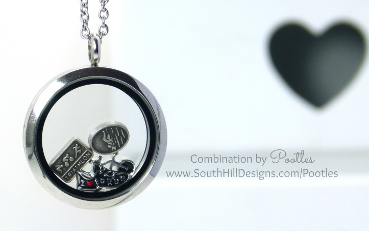 Pootles South Hill Designs - Triathlete Locket