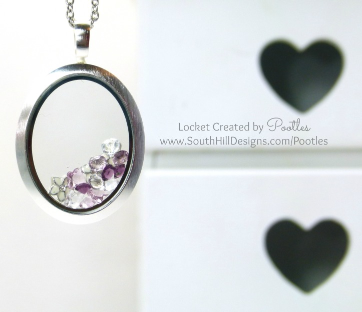 Pootles South Hill & Stampin' Up! Sunday Oval Flower Showcase Tutorial locket