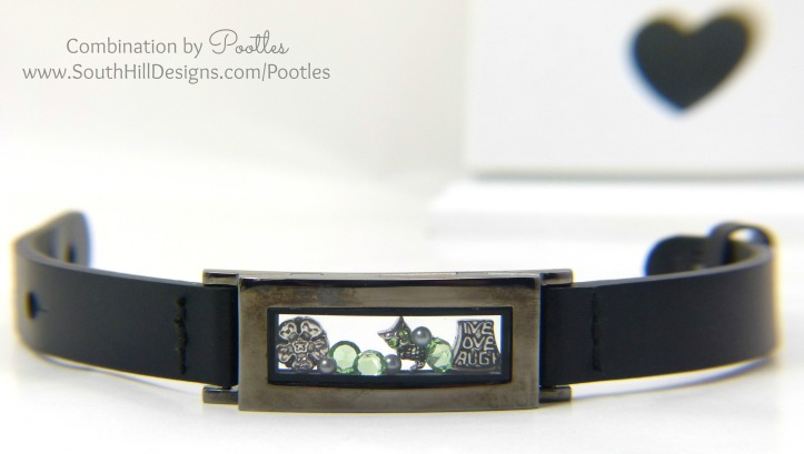 Pootles South Hill Designs - Locket Bracelet Showcase Graphite