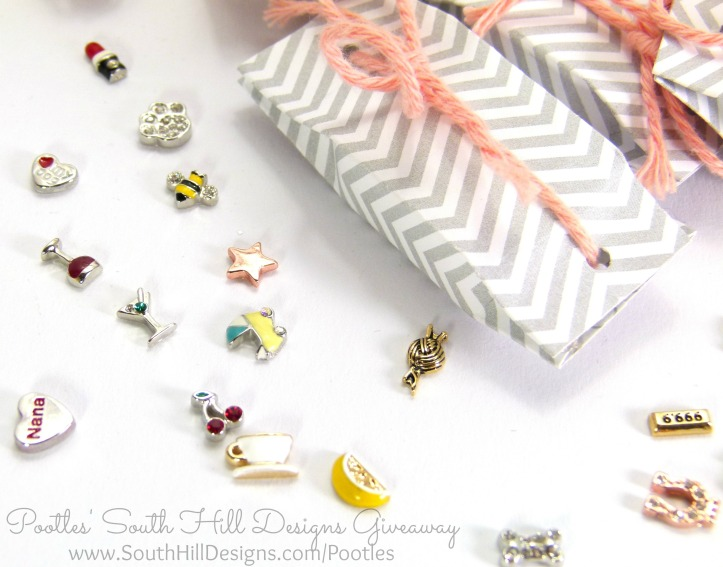 Pootles South Hill Designs & Stampin' Up! Sunday Giveaway Charms Close Up