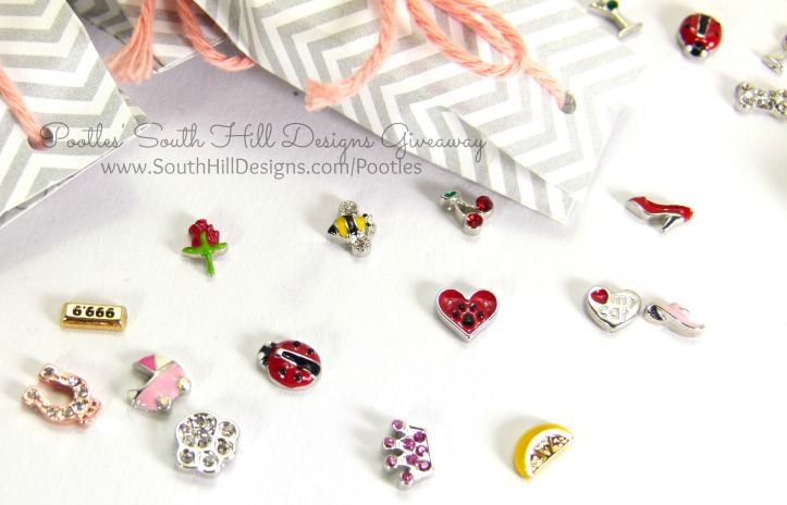 Pootles South Hill Designs & Stampin' Up! Sunday Giveaway Charms Detail