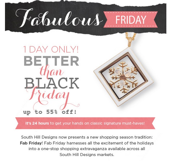 South Hill Designs Black Friday