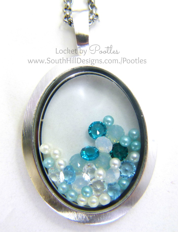 South Hill Designs & Stampin' Up! Sunday Frosty Blues Locket Showcase