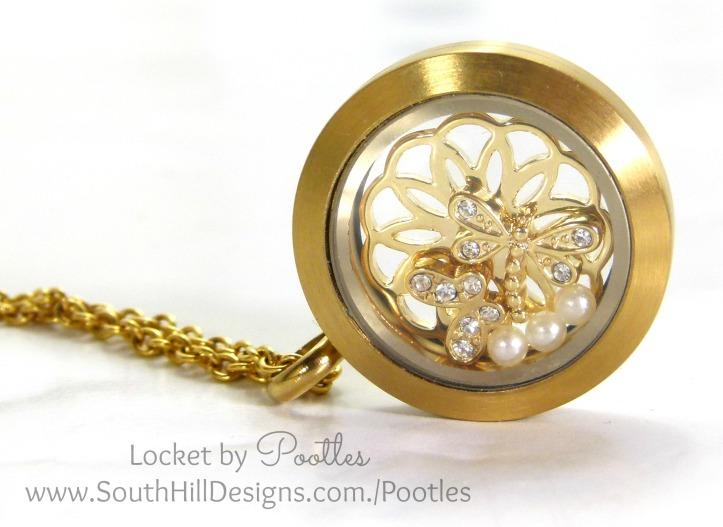 South Hill Designs & Stampin' Up! Sunday Golden Butterflies Showcase Locket