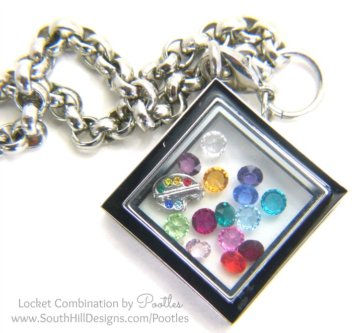South Hill & Stampin' Up! Sunday Rainbows Locket Details