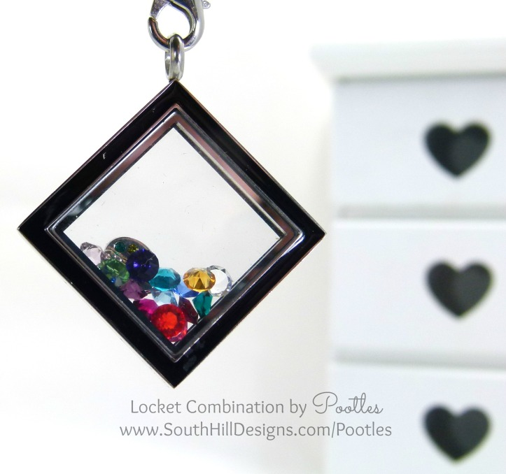 South Hill & Stampin' Up! Sunday Rainbows Locket Hanging